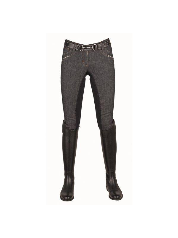 Jeans rijbroek -Crystal- 1/1 Alos zitvlak