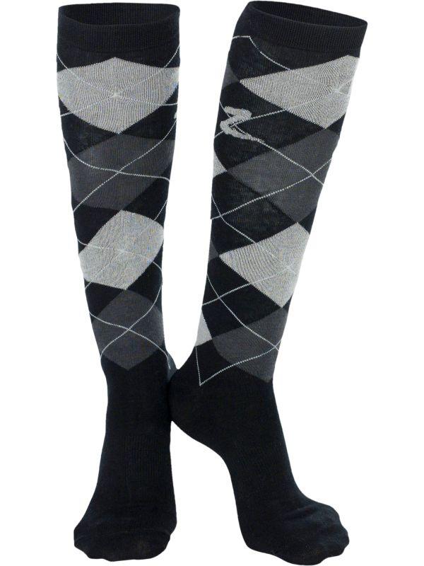Horze Holly Argyle preppy sokken met Coolmax