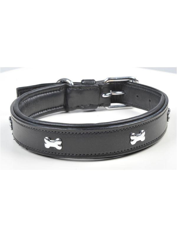 Hondenhalsband leder -Bone-