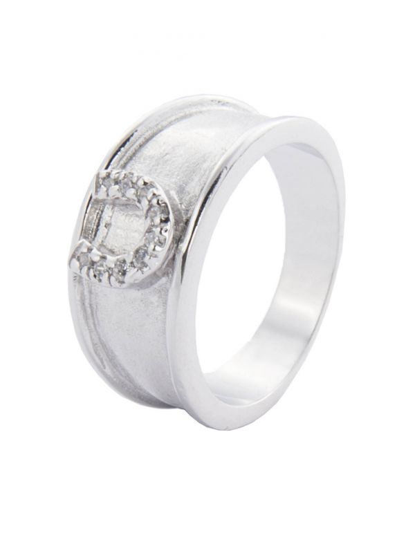 Ring -Hoefijzer Crystal-