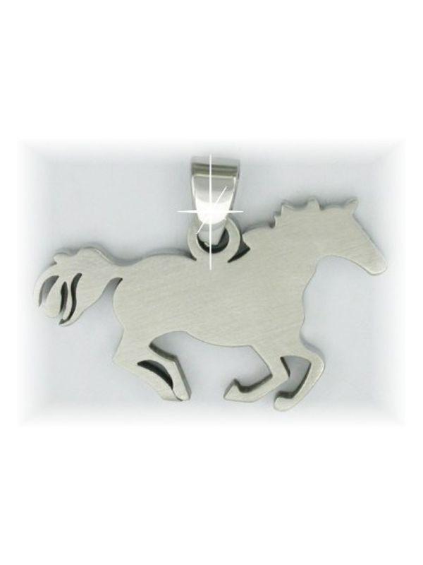 Hanger -Galopperend paard-, RVS