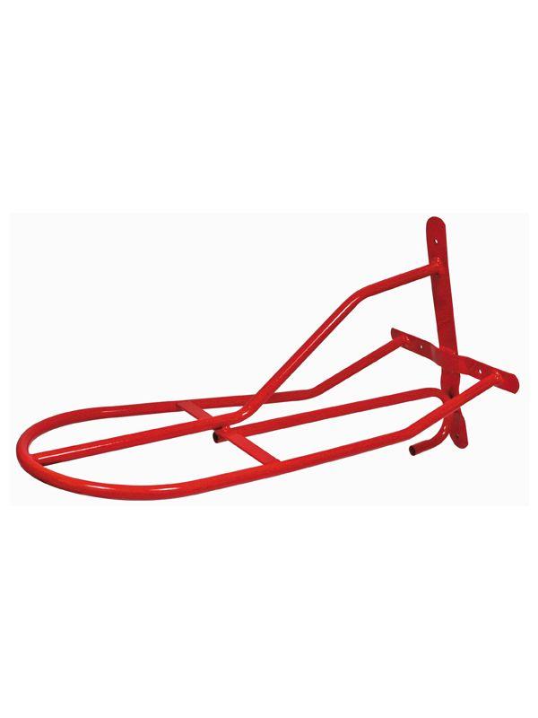 Zadeldrager van metaal, rood