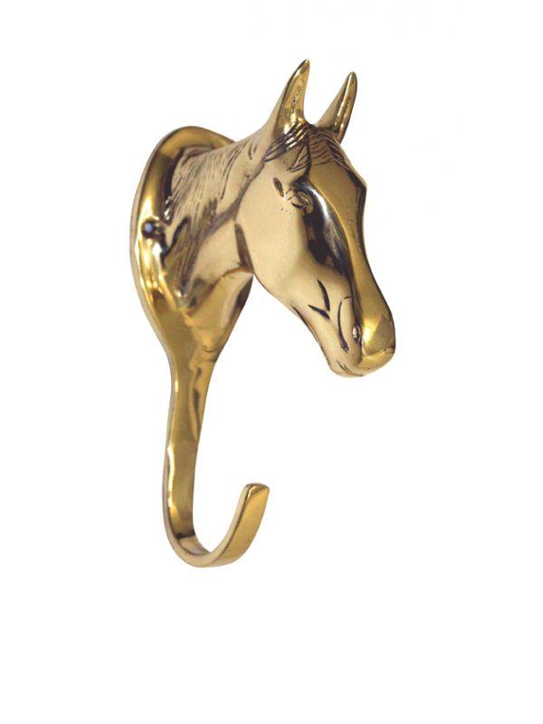 Hoofdstelhanger -Paardenhoofd- van messing