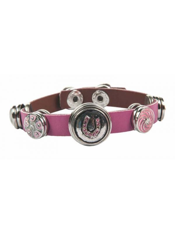 Armband - 4 kleine knopen / 1 grotere + 2 grote knopen