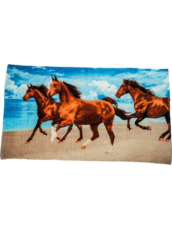 Strandlaken, -3 paarden-