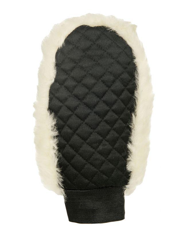 Echt lamsvel poetshandschoen, lamsvel eenzijdig