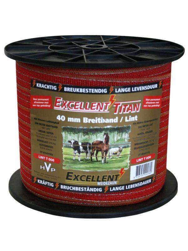 Lint Titaan 200m 40mm Rood/Goud