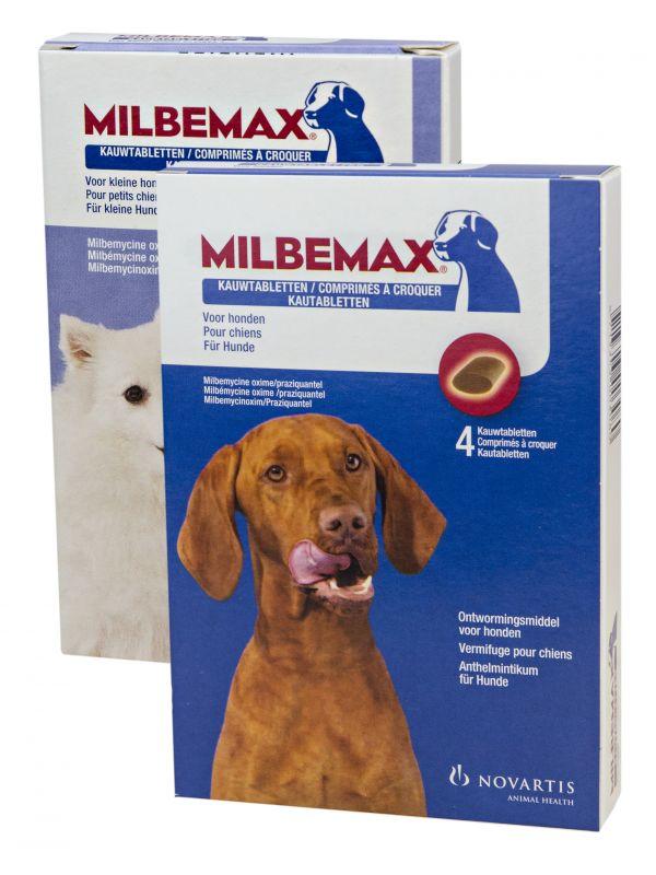 Milbemax Hond Groot Chewy 4 tabl. 5-75kg