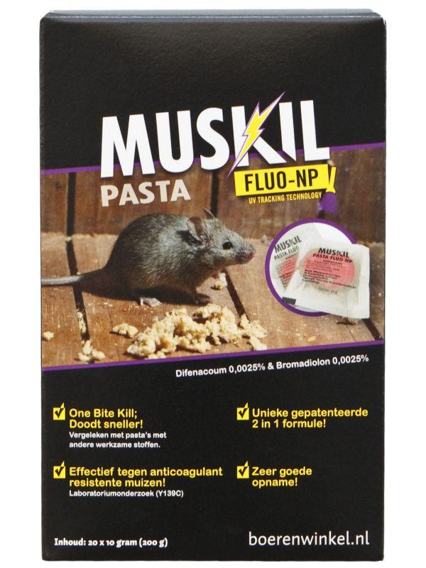 Muskil pasta FLUO-NP muis (5x10g)