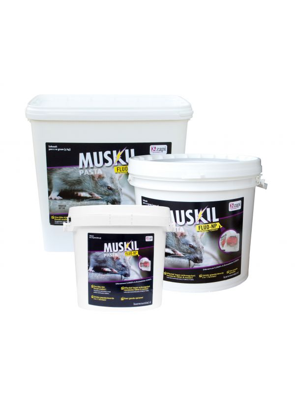 Muskil PROF pasta FLUO-NP Rat&Muis (500x10g)