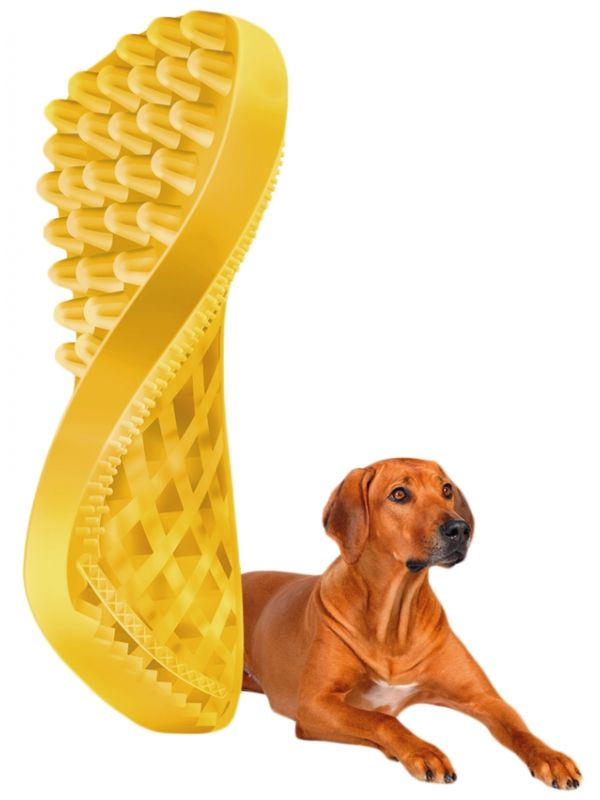 Pet+Me Dog short hair brush yellow