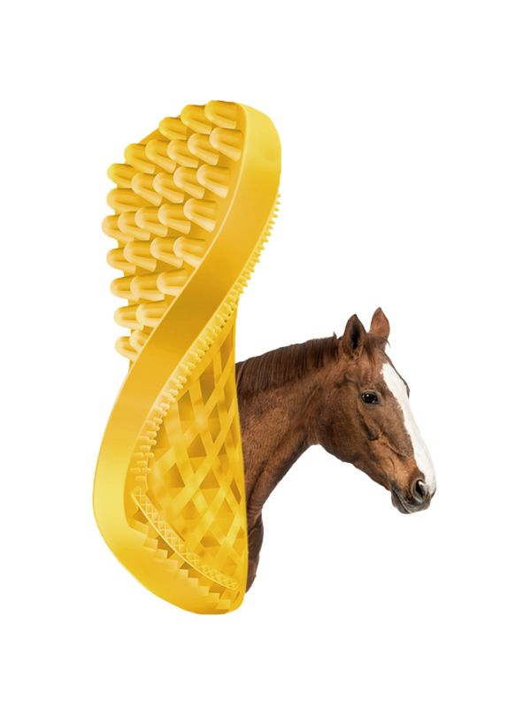 Pet+Me Horse short hair brush yellow