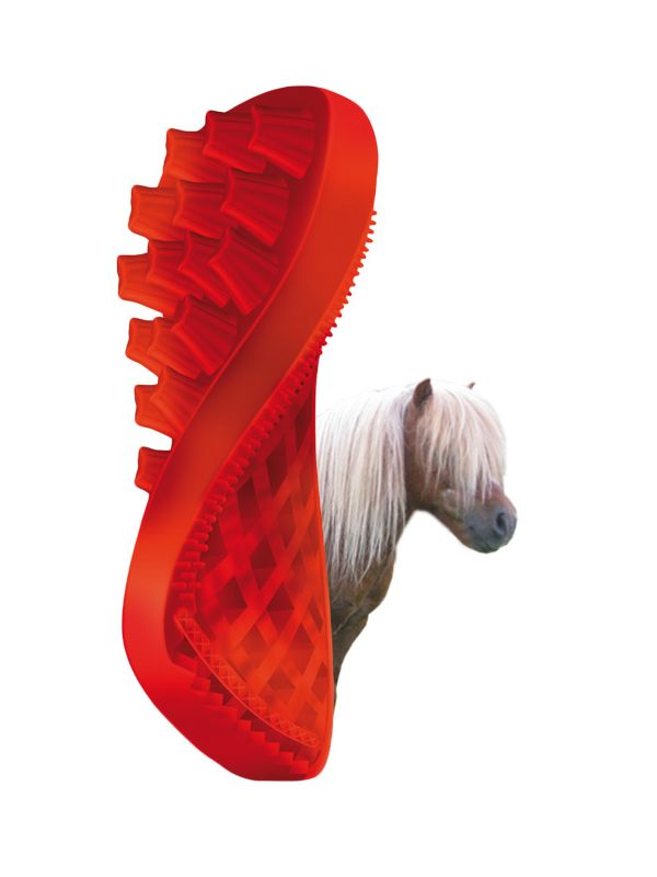 Pet+Me Horse long hair brush red