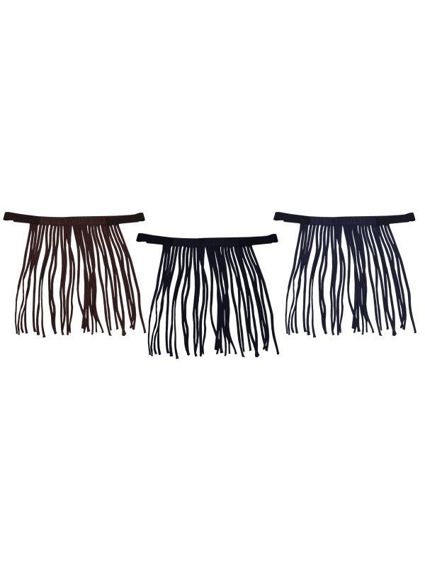 Vliegenfrontriem Paard nylon Black