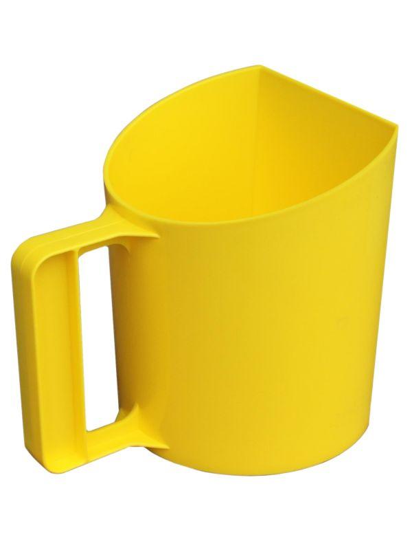 """Voerschep """"Bakmodel"""" KS geel"""