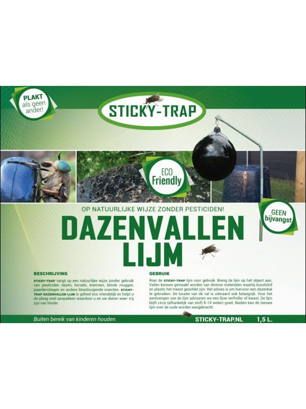 Sticky-Trap Dazenlijm 1,5 L Voor dazen lijmval