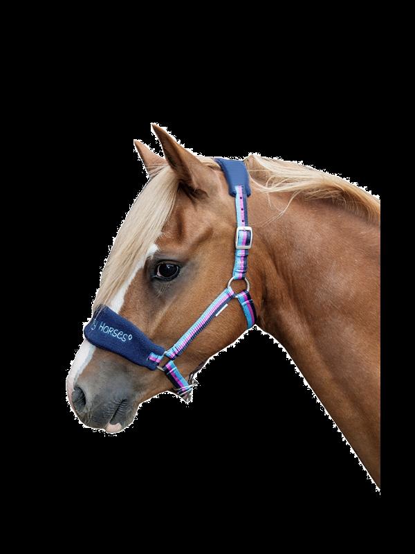 Halstertouw -Funny Horses- met karabijnhaak